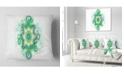 """Design Art Designart Cabalistic Star Fractal Flower Abstract Throw Pillow - 16"""" X 16"""""""