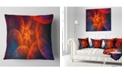 "Design Art Designart Biblical Sky With Red Clouds Abstract Throw Pillow - 18"" X 18"""