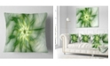 """Design Art Designart Rotating Bright Green Flower Abstract Throw Pillow - 18"""" X 18"""""""