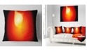 """Design Art Designart Glowing Red Misty Sphere Abstract Throw Pillow - 18"""" X 18"""""""
