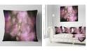 "Design Art Designart Perfect Pink Starry Sky Abstract Throw Pillow - 18"" X 18"""