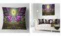 "Design Art Designart Fractal Cosmic Apocalypse Abstract Throw Pillow - 16"" X 16"""