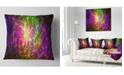 "Design Art Designart Purple Green Symphony Of Colors Abstract Throw Pillow - 18"" X 18"""