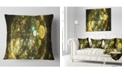 "Design Art Designart Yellow Spherical Planet Bubbles Abstract Throw Pillow - 18"" X 18"""