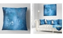 "Design Art Designart Blur Clear Blue Sky With Stars Abstract Throw Pillow - 18"" X 18"""