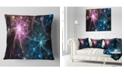 "Design Art Designart Blue Pink Colorful Fireworks Abstract Throw Pillow - 18"" X 18"""