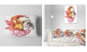 "Design Art Designart Forever Friends Funny Dog Animal Throw Pillow - 12"" X 20"""