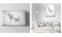 "Design Art Designart Graceful White Horse Animal Throw Pillow - 12"" X 20"""