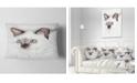 "Design Art Designart Cute Hand Drawn Cat Watercolor Animal Throw Pillow - 12"" X 20"""