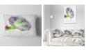 "Design Art Designart Violet Gentiana Alpina Watercolor Floral Throw Pillow - 12"" X 20"""