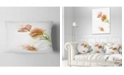 "Design Art Designart Cute Tulips Illustration Watercolor Floral Throw Pillow - 12"" X 20"""