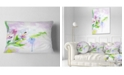 "Design Art Designart Beautiful Floral Sketch Watercolor Floral Throw Pillow - 12"" X 20"""