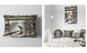 "Design Art Designart Bird In National Park Watercolor Landscape Printed Throw Pillow - 12"" X 20"""