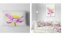 """Design Art Designart Beautiful Purple Flower With Yellow Flowers Throw Pillowwork - 12"""" X 20"""""""