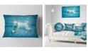 "Design Art Designart Polar Bear Swimming Under Water Animal Throw Pillow - 12"" X 20"""
