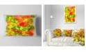 "Design Art Designart Colorful Hand Drawn Floral Background Flower Throw Pillow - 12"" X 20"""