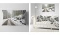 "Design Art Designart Snow Storm At Piornedo Spain Landscape Printed Throw Pillow - 12"" X 20"""