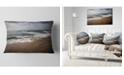 "Design Art Designart Soft Waves Of Sea On Sandy Beach Seashore Throw Pillow - 12"" X 20"""
