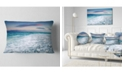 "Design Art Designart Beautiful Sunrise At Dead Sea Seashore Throw Pillow - 12"" X 20"""
