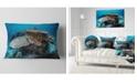 "Design Art Designart Corals And Fish In Komodo National Park Seashore Throw Pillow - 12"" X 20"""