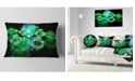 "Design Art Designart Green Water Drops On Mirror Abstract Throw Pillow - 12"" X 20"""