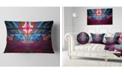 "Design Art Designart Blue Cosmic Horizons Apocalypse Abstract Throw Pillow - 12"" X 20"""