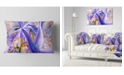 "Design Art Designart Purple Yellow Fractal Curves Abstract Throw Pillow - 12"" X 20"""