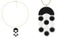 Trifari Gold-Tone Painted Metal Pendant Necklace