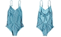 Roxy Big Girls 1-Pc. Surf My Mind Striped Swimsuit