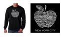 LA Pop Art Men's Word Art Long Sleeve T-Shirt - Neighborhoods in NYC