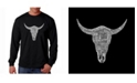 LA Pop Art Men's Word Art Long Sleeve T-Shirt - Cowskull Country Hits