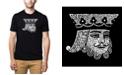 LA Pop Art Men's Premium Word Art T-Shirt - King of Spades