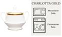 Noritake Charlotta Gold Sugar with Cover