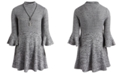 Sequin Hearts Big Girls 2-Pc. Marled Sweater Dress & Necklace Set