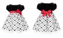 Bonnie Baby Baby Girls Velvet Flocked Organza Dress
