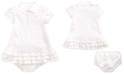 Polo Ralph Lauren Baby Girls Printed Interlock Cupcake Dress