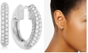 Macy's Diamond Hoop Earrings (1/4 ct. t.w.) in 14k White Gold or 14k Gold