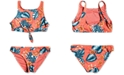 Roxy Big Girls 2-Pc. Floral Time Tie-Front Bikini