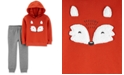 Carter's Baby Boys 2-Pc. Fox Fleece Hoodie & Joggers Set