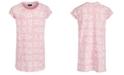 DKNY Big Girls Logo-Print Jacquard T-Shirt Dress