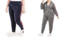 Tommy Hilfiger Plus Size Logo-Trim Jogger Sweatpants