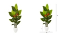 """Nearly Natural 70"""" Bird Of Paradise Artificial Plant in White Planter Real Touch"""