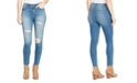 WILLIAM RAST Destructed High-Rise Skinny Ankle Jeans