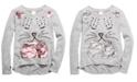 Belle Du Jour Big Girls Flip-Sequin Cat Sweatshirt