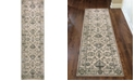 "KM Home CLOSEOUT! 3562/0023/BONE Cantu Ivory/ Cream 2'2"" x 7'7"" Runner Rug"