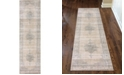 "KM Home CLOSEOUT! 3563/0023/BONE Cantu Ivory/ Cream 2'2"" x 7'7"" Runner Rug"