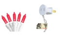 """Northlight Set of 50 Red LED Mini Christmas Lights 4"""" Spacing - White Wire"""