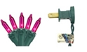 """Northlight Set of 35 Pink Mini Christmas Lights 2.5"""" Spacing - Green Wire"""