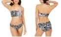 DKNY City Tag Logo-Print Bandeau Bikini Top & Bottoms