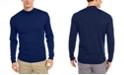 Tasso Elba Men's Solid Mock-Neck Merino Wool Blend Sweater, Created for Macy's